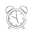 clock alarm timer business icon vector image vector image