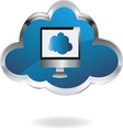 Cloud computing 01 resize vector image vector image