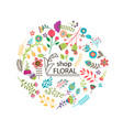 colorful floral round concept vector image vector image