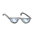 comic cartoon glasses vector image vector image