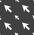Cursor arrow icon sign Seamless pattern on a gray vector image vector image