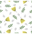 cute autumn creative pattern with leaves vector image vector image