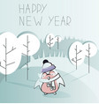 cute cartoon character on and awesome holiday card vector image vector image