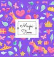 cute cartoon magic and fairytale vector image vector image