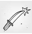 dagger hand drawn dirk vector image vector image