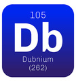 Dubnium chemical element vector image vector image