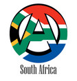 flag of south africa of the world in the form of vector image vector image