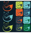 flat designs and icons of fox vector image vector image