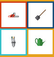 flat icon dacha set of pump bailer hacksaw and vector image vector image