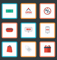 flat icons support sign present and other vector image vector image