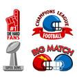 football championship fancy badge vector image vector image