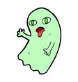 funny comic cartoon ghost vector image vector image