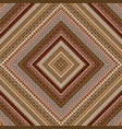 geometric decorative seamless pattern with brown vector image vector image