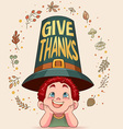 givethanks vector image vector image