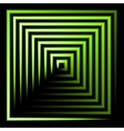 green neon square background vector image vector image
