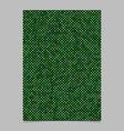 green pentagram star shape pattern background vector image