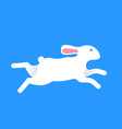 hare run and jump vector image vector image