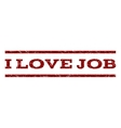 I Love Job Watermark Stamp vector image vector image