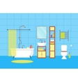 Interior Classic Bathroom with Furniture vector image vector image
