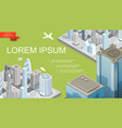 isometric futuristic city landscape template vector image vector image