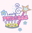 Lovely princess vector image vector image