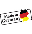 made in Germany vector image vector image