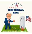 memorial day senior man on military cemetery near vector image vector image