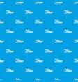 men sneakers pattern seamless blue vector image vector image