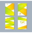 modern set brochures in ecology vector image