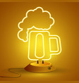 neon sign of beer bright signboard light banner vector image
