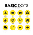 network flat icons set vector image vector image