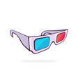 paper 3d glasses isometric view vector image vector image