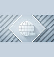 paper cut global technology or social network icon vector image vector image