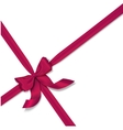 pink realistic bow vector image vector image
