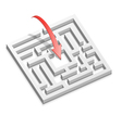Prompt Decision to the Labyrinth vector image