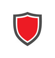 protection shield icon with red center placed on vector image vector image