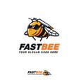rocket bee cartoon mascot logo icon template vector image vector image