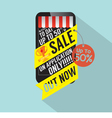 Sale On Mobile Shopping vector image