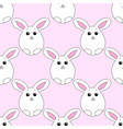 seamless pattern with easter bunny vector image vector image