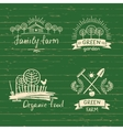 Set logos family farmLogo organic food Hand vector image