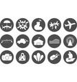 set of summer theme icons vector image