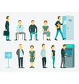 Set with people queue the ATM vector image vector image