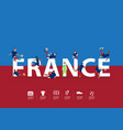 soccer players in action on france text vector image
