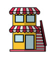 store building front isolated icon vector image vector image