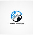 techno mountain logo designs icon element and vector image vector image
