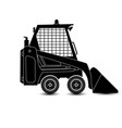the isolated compact excavator vector image