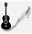 traditional guitar treble clef notes vector image vector image