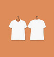 tshirt mockup white for your design vector image vector image