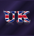 uk flag symbol vector image vector image