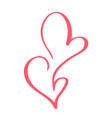 valentines day hand drawn calligraphic vector image